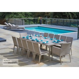 Chelsea Large Rectangular Outdoor Dining Set
