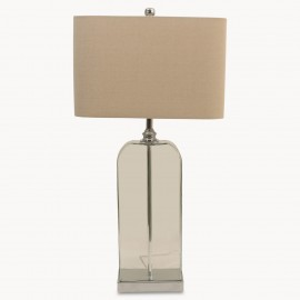 Ledbury Linen Glass Table Lamp