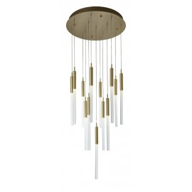 Darina, Chandelier Brushed Brass Finish
