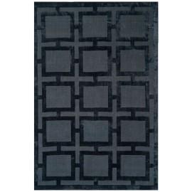 Black Knightsbridge Geometric Rug
