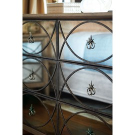 Edelman Antiqued Mirrored Dresser