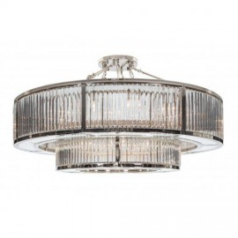 Garnet, Two Tier Chandelier in Nickel