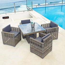 Havana Bespoke Outdoor Square Dining Table - Luxury Outdoor Furniture