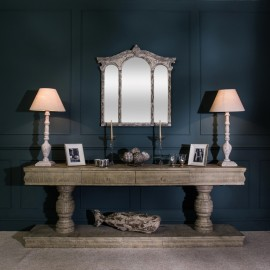 Isabella Washed Grey Console Table