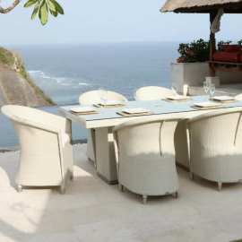 Levanzo Outdoor 6 Seater Rectangular Dining Set - Bespoke Options
