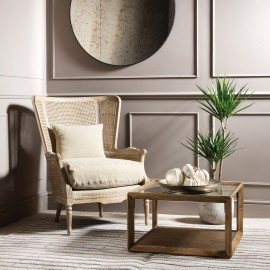 Marlborough Oak Salon Bergere Chair