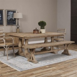 Colmar Rustic Lodge Reclaimed Dining Table