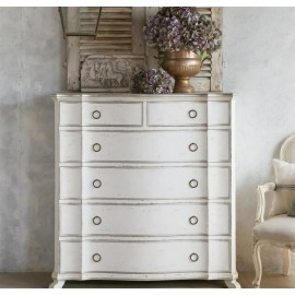Asante French Chest in Silver and Antique White
