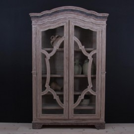 Camila French Country Rustic Wood Wardrobe Cabinet