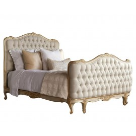 Natalya Gold Taupe Two Tone King Bed
