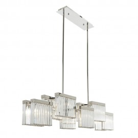 Melton Nickel and Crystal Ceiling Light