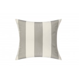 Silver Grey/White Cabana Outdoor Cushion & Pad - 50x50cm