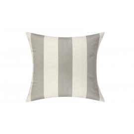 Silver Grey/White Cabana Outdoor Cushion & Pad - 50x50cm