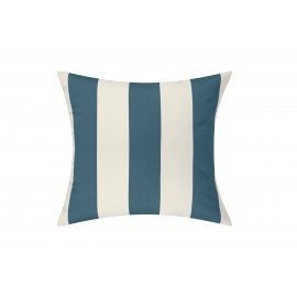 Slate Blue/White Cabana Outdoor Cushion & Pad - 50x50cm