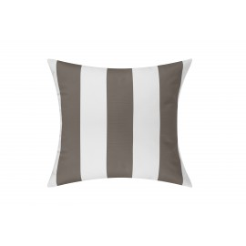 Taupe/White Cabana Outdoor Cushion & Pad - 50x50cm