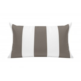 Taupe/White Cabana Outdoor Cushion - 50x30cm
