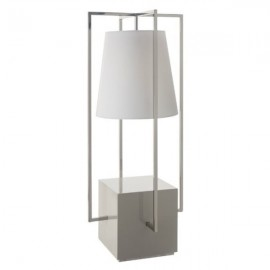 Olivio Nickel Hurricane Table Lamp
