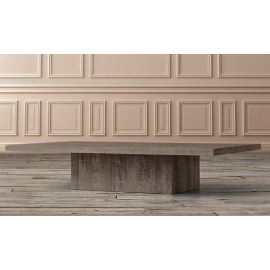 The Chichester Pine Plinth Square Coffee Table – Grey Finish