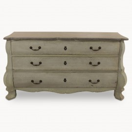 Woodcroft Three Drawer Commode with Stone Top