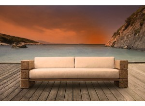 The Verbier Outdoor 4 Seated Sofa - Natural English Oak