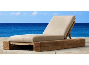 The Verbier Outdoor Sun Lounger - Natural English Oak