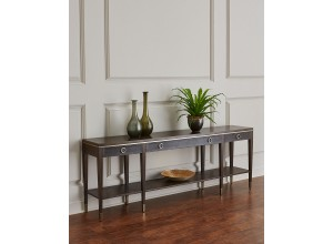 Claremont Leather Console Table