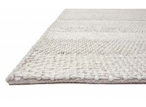 Cream Stripe Westbourne Wool Rug