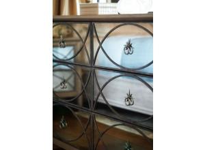 Edelman Antiqued Mirrored Dresser