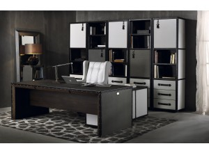 LEATHER COMPASS DESK by Coleccion Alexandra
