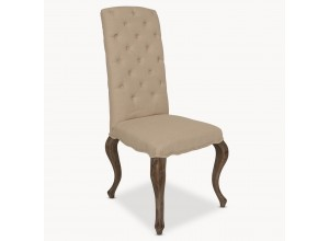 Kingswood Natural Linen Dining Chair with Oak Legs