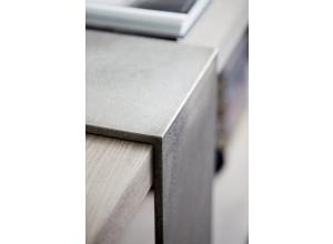 Knightsbridge Cerused Greige Console Table