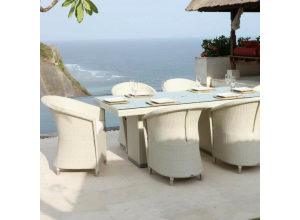 Levanzo Outdoor 6 Seater Rectangular Dining Set - Bespoke Options