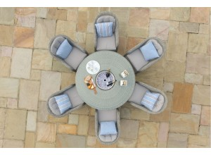Oxford 6 Seater Outdoor Round Dinning Set