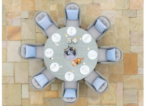 Oxford 8 Seater Outdoor Round Dinning Set