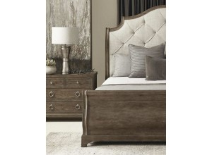 Westbourne Upholstered Peppercorn Sleigh Bed
