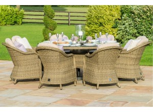 Winchester 8 Seat Round Dining Set - Round Chairs
