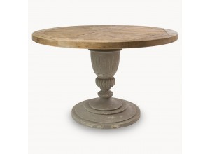 Woodcroft Charcoal Bleached Pine Round Dining Table