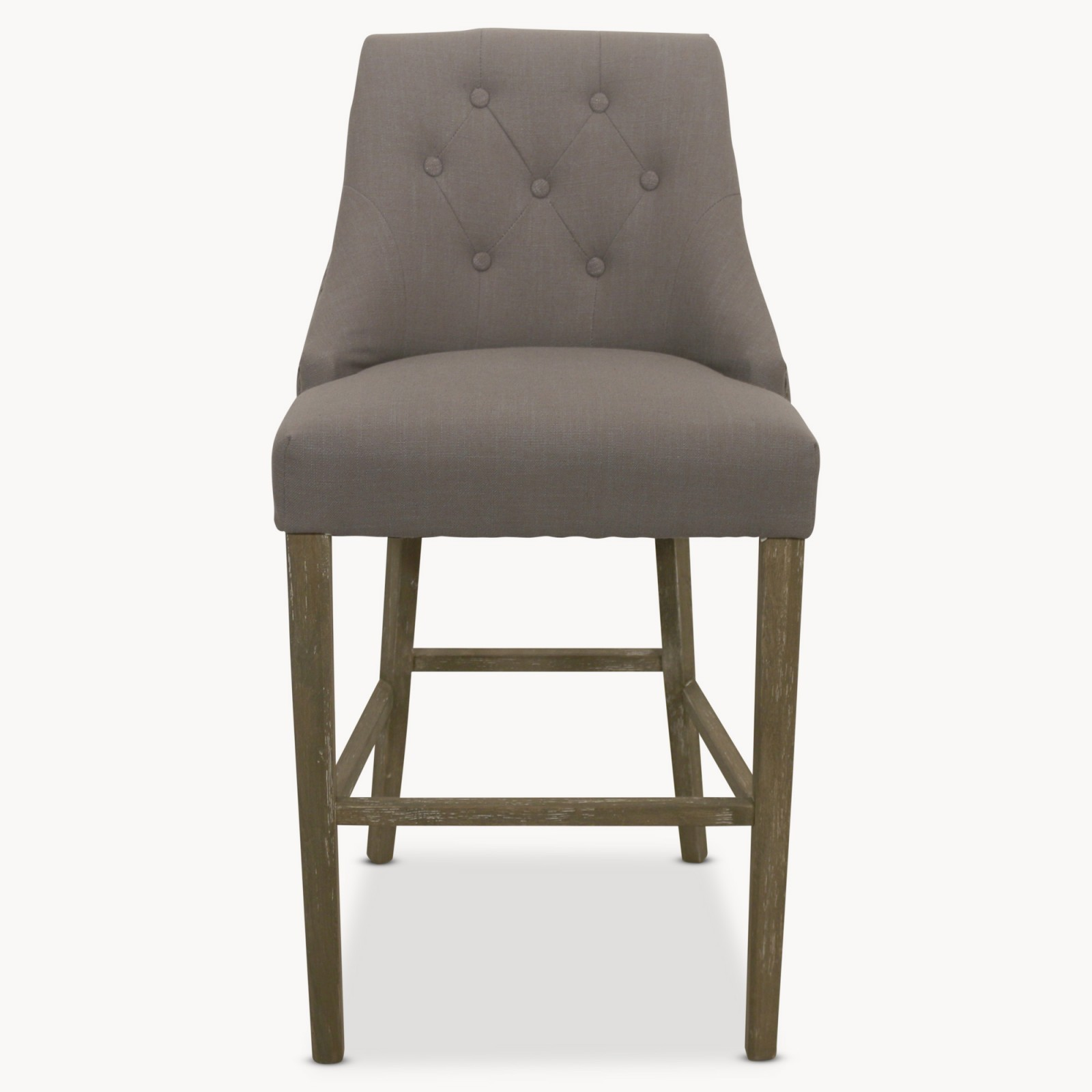 St James Padded Grey Bar Stool Hadley Rose