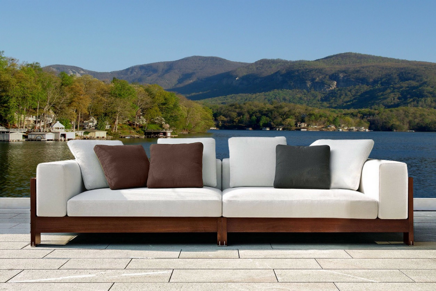 The Naxos Three Seater Outdoor Sofa Hadley Rose