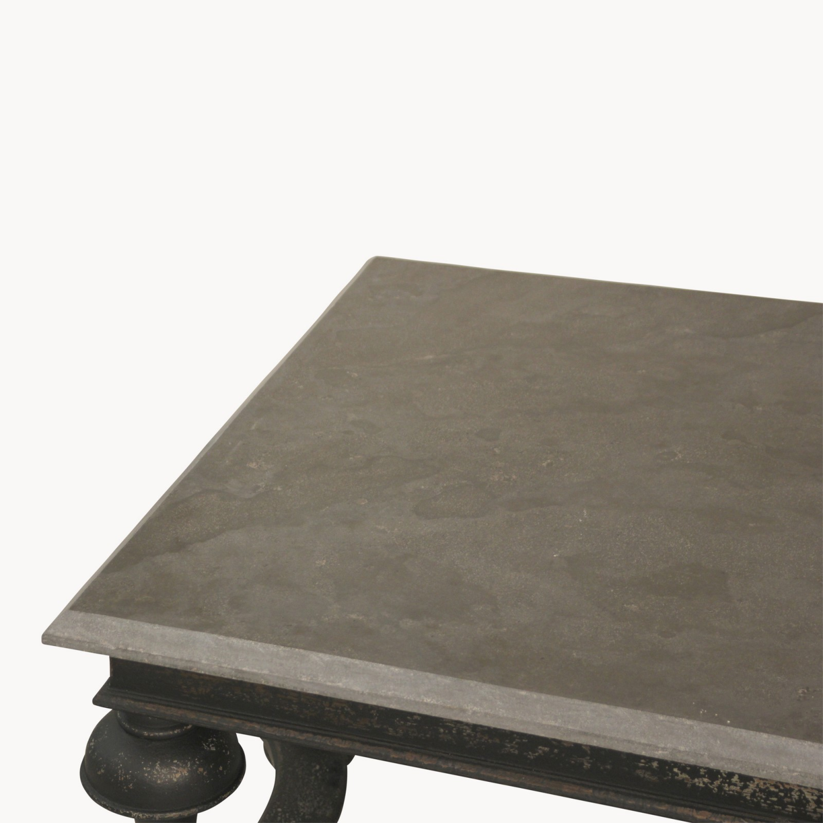Woodcroft Black and Stone Top Balustrade Coffee Table Living