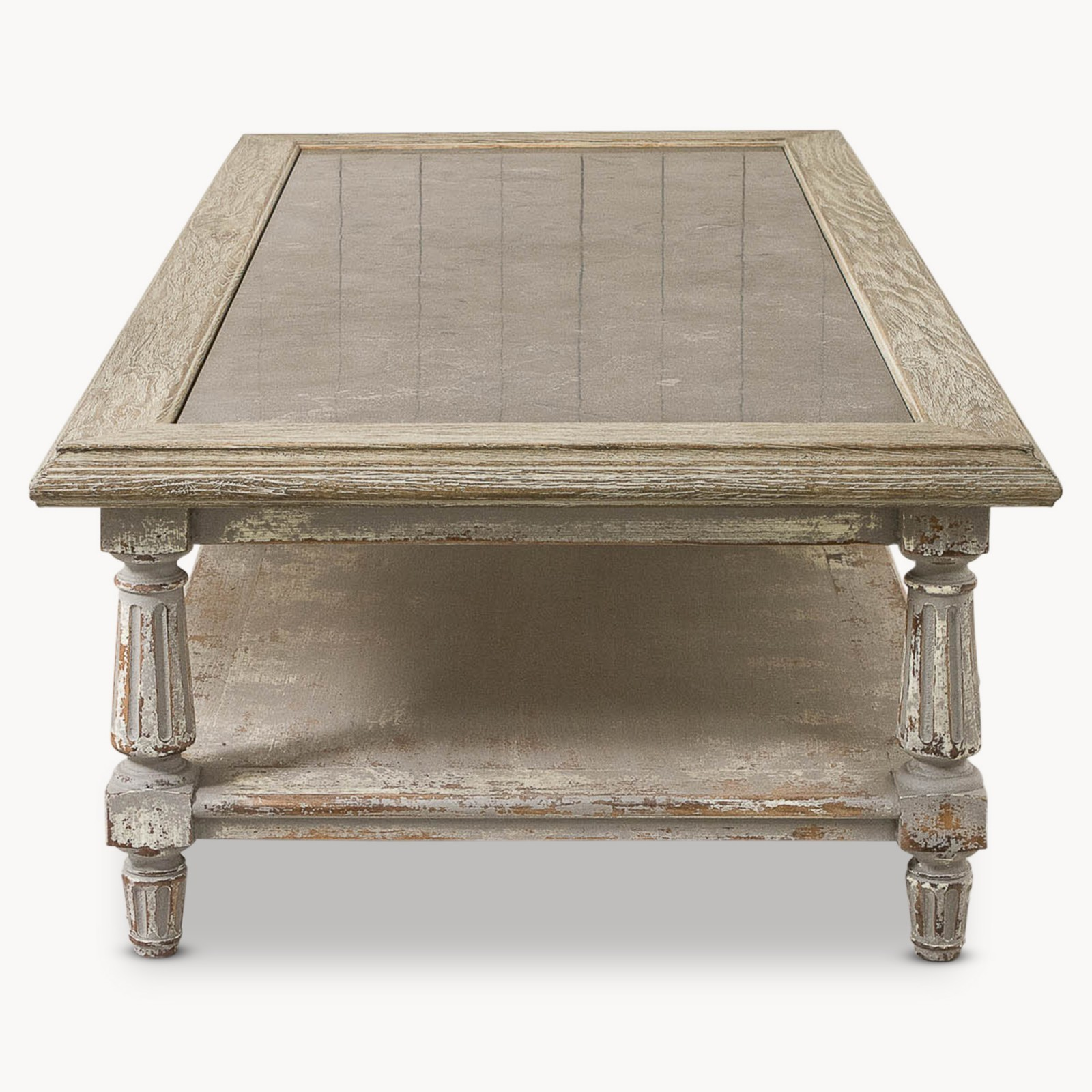 Oak And Stone Coffee Table